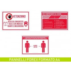 Kit 3 Pannelli in PVC formato A4