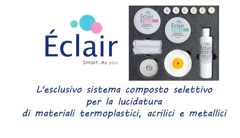 Esclusivo sistema composto selettivo per la lucidatura di resine termoplastiche, resine acriliche e metalli